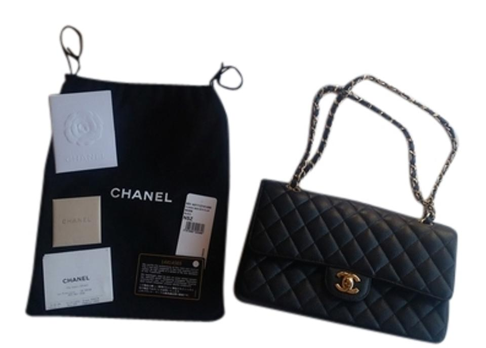 4b4d99480fcd Chanel Double Flap Quilted Small Classic Black with Gold Hardware ...