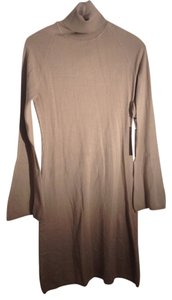 BCBGMAXAZRIA short dress Tan Sweater Turtleneck on Tradesy