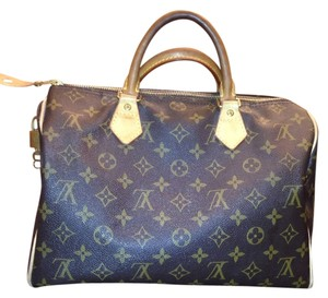 Louis Vuitton Speedy Speedy 30 Monogram Satchel in Brown