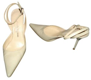 Claudio Fracessa Slingback Pointed Toe Ivory Formal