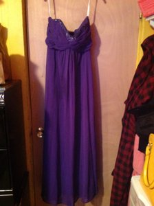 David's Bridal Purple Gown. Dress