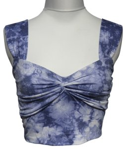 Other Tye-Dye Blue Halter Top