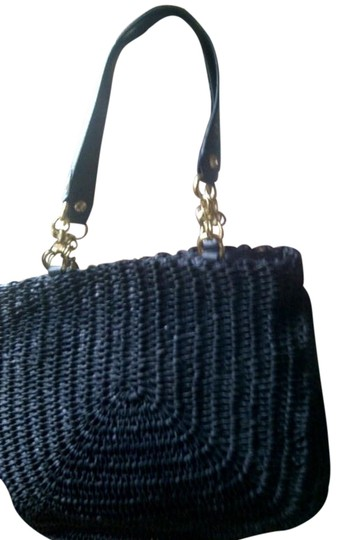 Elliott Lucca Classic Timeless Leather Woven Handmade Shoulder Bag