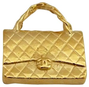 Chanel Chanel Quilted Gold Purse Handbag Pendant