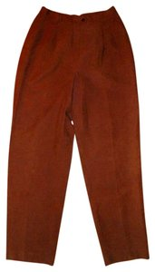 Ralph Lauren P361 Silk Size 10 Straight Pants Brown
