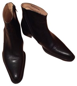 Free Lance Leather Ankle black Boots
