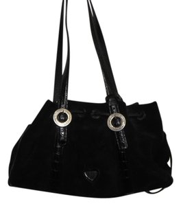 Brighton Suede Magnetic Closure Shoulder Bag