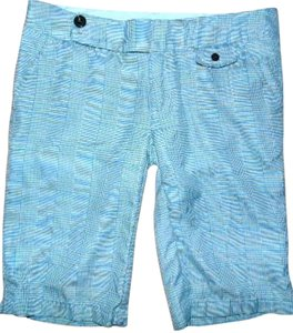Element P360 Summersale Bermuda Shorts Blue, Green White Plaid print