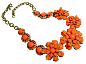 J.Crew J CREW VIBRANT FLAME AZALEA FLOWER NECKLACE