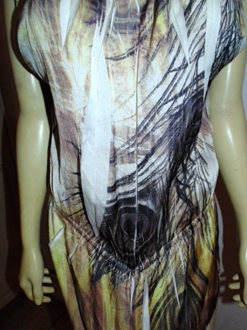 Mustard Seed Peacock Feathers Loose Fit P357 Size Large Top BEIGE, BROWN, IVORY, COPPER, BLACK, YELLOW