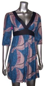 Kimchi Blue short dress Blue Black Multi on Tradesy