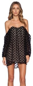 Stone Cold Fox Made In Usa Silk Lining Polka Dot Sweetheart Neckline Dress