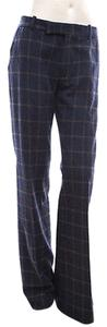 Marni Navy Plaid Check Pants
