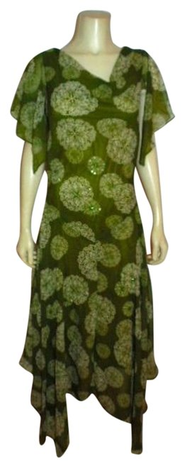 Item - Green Womans Full Length Sequins Long Cocktail Dress Size 18 (XL, Plus 0x)