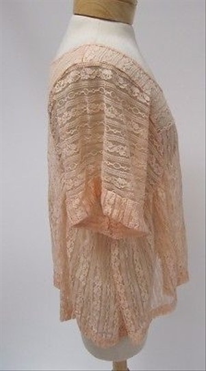8c9efceb33a392 Free People Womens People Peach Lace Peasant Blouse Tunic Top outlet ...