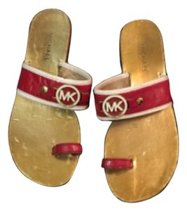 Michael Kors Red and white Sandals