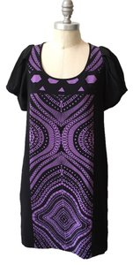 Tibi short dress Purple Geometric Kaleidoscope Print Scoop Neck Silk Shift on Tradesy