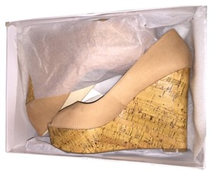 Nine West Tan Natural Brown Wedges