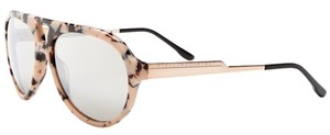 Stella McCartney New! Stella McCartney Blush Blonde Tortoise Aviator Sunglasses with Mirrored Lenses