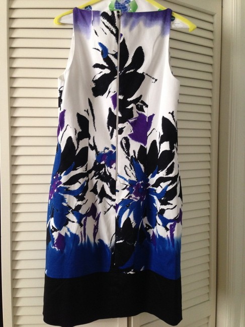 T Tahari short dress Blue Floral on Tradesy