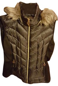 Michael Kors Michael Kors Faux-Fur-Trim Quilted Down Vest