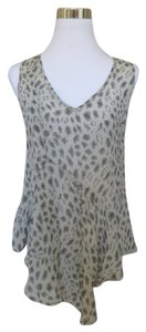 Cecico Animal Print Top Gray