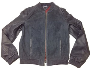 Tommy Hilfiger Navy (midnight) Leather Jacket