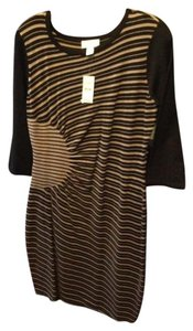 Ann Taylor LOFT Sweater Slimming Sunburst Design Dress
