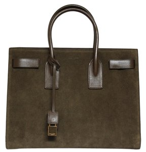 Saint Laurent Tote in Military green