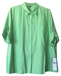 Ralph Lauren Long Sleeve Button Down Shirt Lime Green