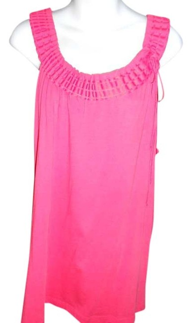Preload https://item2.tradesy.com/images/bcbgmaxazria-cotton-pull-over-tank-top-coral-781526-0-0.jpg?width=400&height=650