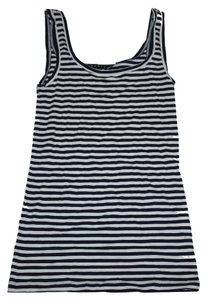 Theory Striped Pinstripe Shell Workwear Work To Weekend Classic Nautical Top Navy Blue, White