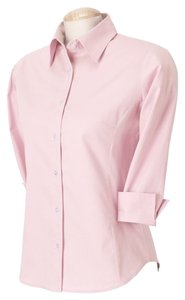 Cotton Button Down Shirt Pink