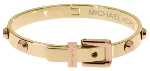 Michael Kors MICHAEL KORS MKJ1891 Astor Women Bangle Bracelet Polished Two Tone Gold Rose