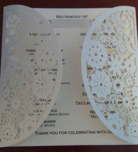 50 Laser Cut Square Wedding Invitation