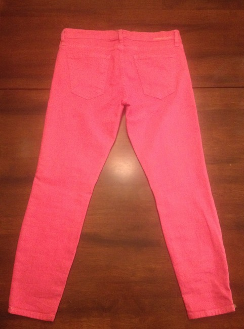 Item - Pink Coated Ankle Cropped Skinny Jeans Size 28 (4, S)