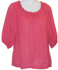 Anthropologie Cotton Top Pink