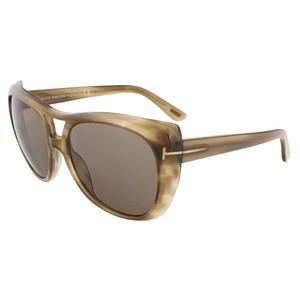 Tom Ford Tom Ford Khaki Full Rim Oversized Aviator Sunglasses