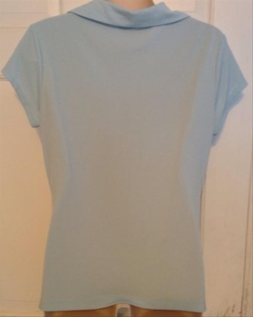 New York & Company Top Light Blue