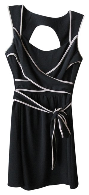 Modcloth short dress Black and Beige Nautical on Tradesy