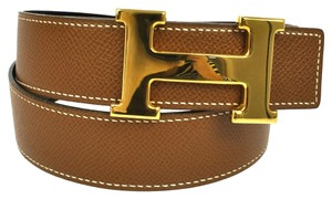Hermès HERMES Constance H Buckle Reversible Belt Brown Gold #70 France Vintage