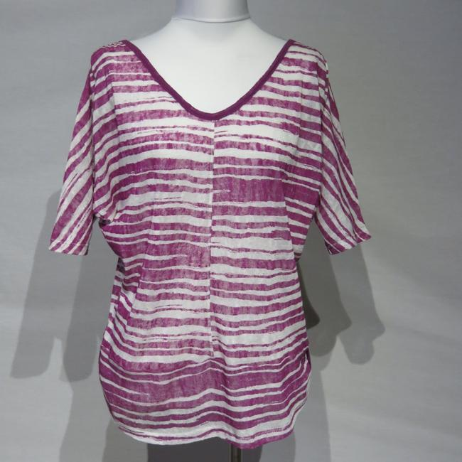 French Laundry Top Purple/White