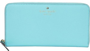 Kate Spade Kate Spade Turquoise Leather Continental Wallet New With Tags