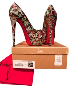 Christian Louboutin Lady Peep Limited Edition Xmas Pumps