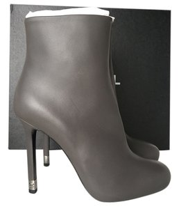 Chanel Leather GRAY Boots