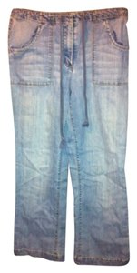 Talbots Stretchy Drawstring Relaxed Fit Jeans-Light Wash
