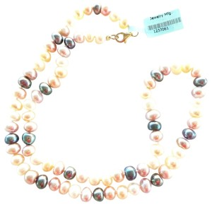 Other Soft Pink, Peach, Cream and Black Freshwater Pearls