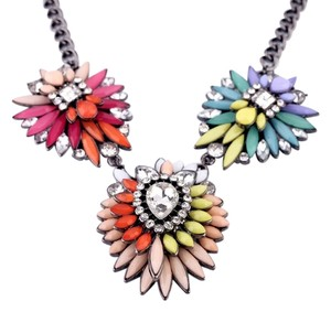 Bold Colorful Statement Necklace