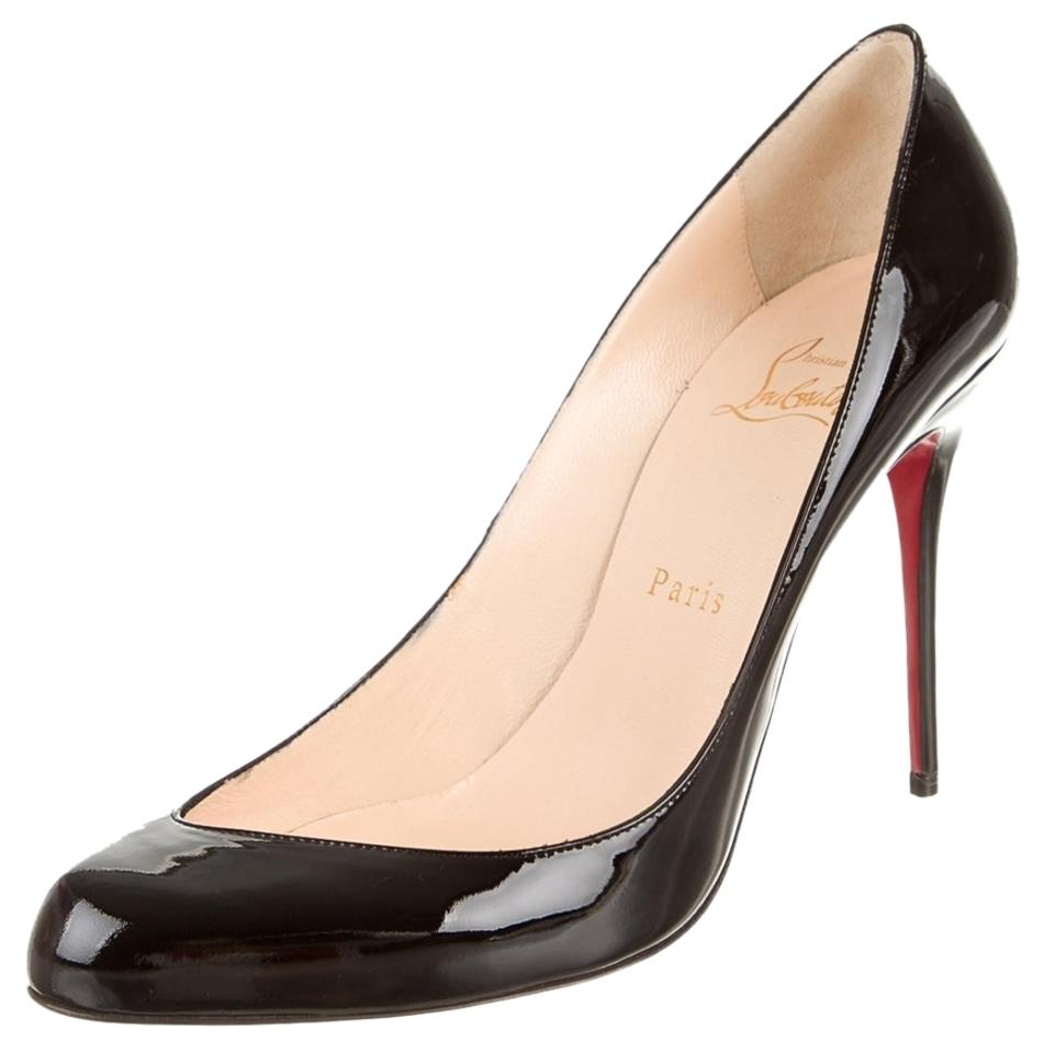 d49ba3ccc ... christian louboutin semi-pointed toe platform pumps Black patent  leather ...