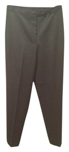SMOOTH PETITE Straight Pants Dark grey